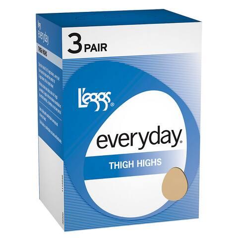 Everyday Women's Suntan Thigh High ST Pantyhose (Pack of 3)