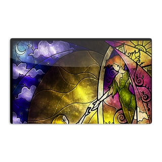 KESS InHouse Mandie Manzano 'Fairy Tale off to Neverland' Artistic Aluminum Magnet