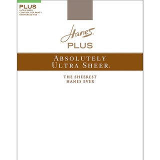 Plussolutely Ultra Sheer Women's Barely Black Control Top Reinforced Toe Pantyhose (Option: 6p)