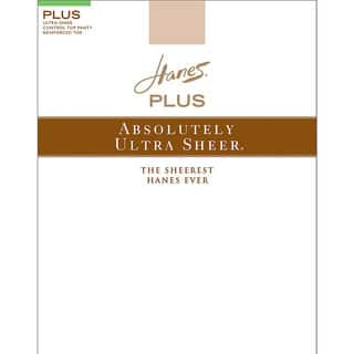 Plussolutely Ultra Sheer Women's Barely There Control Top Reinforced Toe Pantyhose|https://ak1.ostkcdn.com/images/products/12132145/P18990228.jpg?impolicy=medium