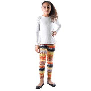 Dinamit Girl's Multicolor Nylon/Spandex Printed Leggings|https://ak1.ostkcdn.com/images/products/12132161/P18990173.jpg?impolicy=medium