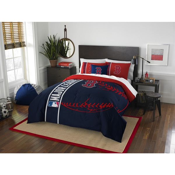 Captivating The Northwest Company MLB 836 Red Sox Full 3 Piece Comforter Set