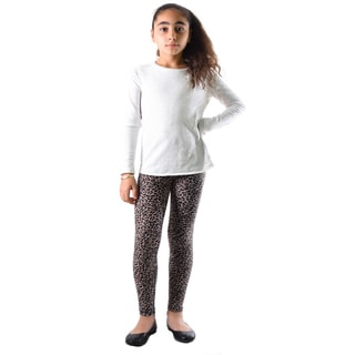 Dinamit Girls' Multicolor Nylon/Spandex Leopard Printed Legging
