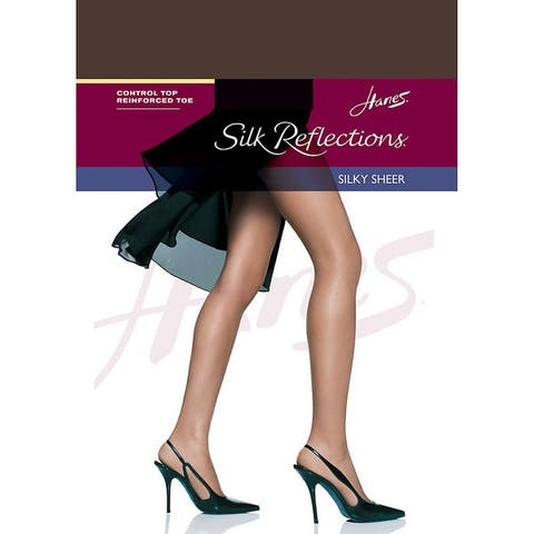 Silk Reflections Womens Pantyhose Cocoa Control Top Reinforced Toe