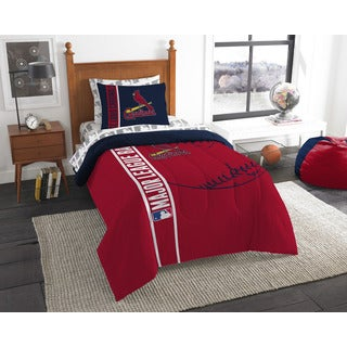 MLB 845 Cardinals Twin 5-piece Bed in a Bag with Sheet Set