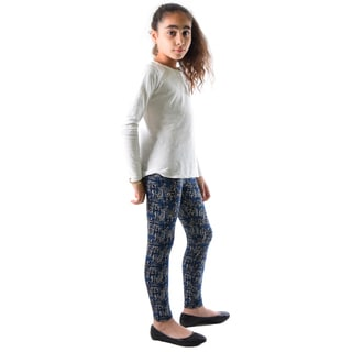 Dinamit Girls' Multicolor Nylon/Spandex Printed Leggings
