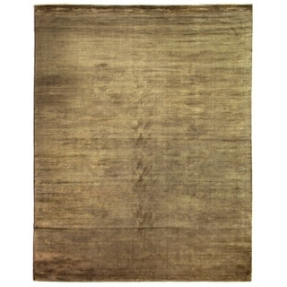 Exquisite Rugs Swell Khaki Viscose Rug (12' x 15')
