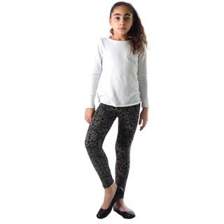 Girls' Multicolor Nylon/Spandex Printed Leggings