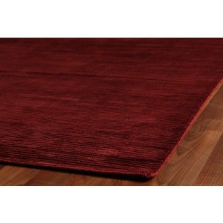 Exquisite Rugs Swell Red Viscose Rug - 12' x 15'
