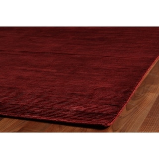 Exquisite Rugs Swell Red Viscose Rug (14' X 18')