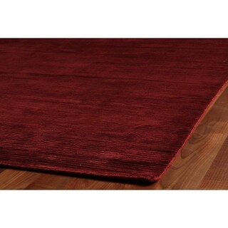 Exquisite Rugs Swell Red Viscose Rug - 14' x 18'
