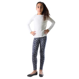 Dinamit Girls' Multicolor Nylon/Spandex Printed Leggings