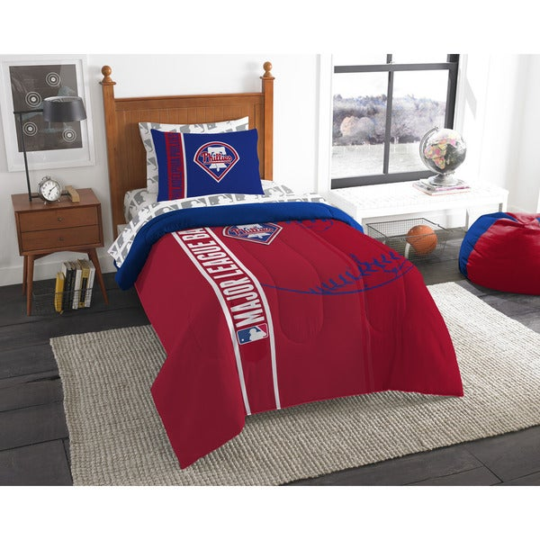 The Northwest Company MLB Philadelphia Phillies Twin 5-piece Bed in a Bag with Sheet Set