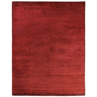 Exquisite Rugs Swell Red Viscose Rug - 15' X 20'