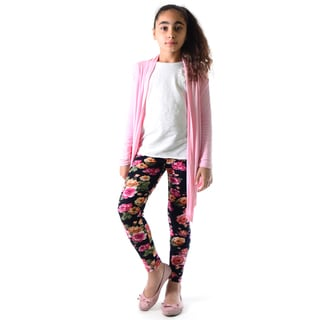 Kid's Multicolor Floral Printed Legging