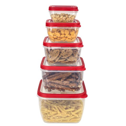 Home Basics 5-piece Nesting Storage Container Set with Vented Covers