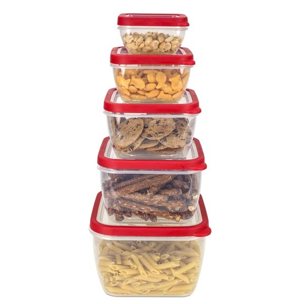 Shop Home Basics 5 piece Nesting Storage Container Set with Vented