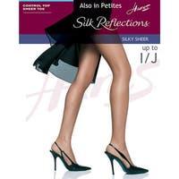 751a69208e5 Shop Silk Reflections Women s Silky Sheer Thigh High Pearl Pantyhose ...
