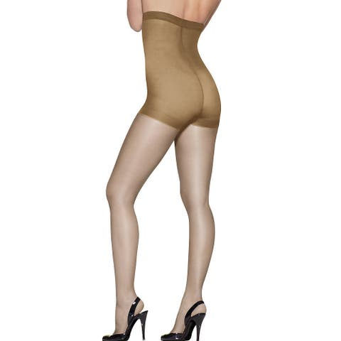 Silk Reflections Women's High Waist Control Top Little Color Pantyhose