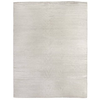 Exquisite Rugs High Low White Viscose Rug (10' x 14')