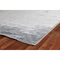 Exquisite Rugs Silky Touch Blue Viscose Rug - 10' X 14'