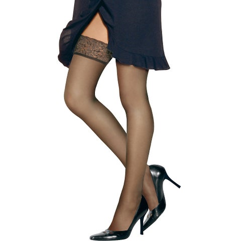 Silk Reflections Women's Lace Top Thigh Highs Little Color Pantyhose