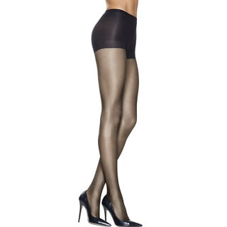 Silk Reflections Women's Lasting Sheer Control Top Pantyhose Barely Black