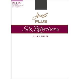 Silk Reflections Women's Enhanced Toe Sheer Pantyhose Barely Black