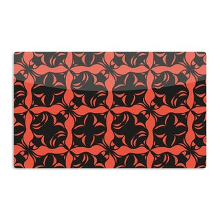 KESS InHouse Miranda Mol 'Oval Orange Love' Artistic Aluminum Magnet