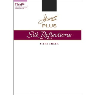 Silk Reflections Women's Enhanced Toe Sheer Pantyhose Jet
