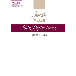 Silk Reflections Women's Enhanced Toe Sheer Pantyhose Travel Buff