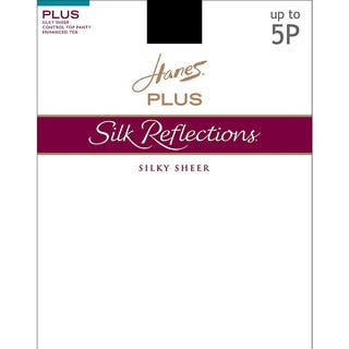 Silk Reflections Women's Sheer Control Top Enhanced Toe Pantyhose Barely Black|https://ak1.ostkcdn.com/images/products/12132899/P18990284.jpg?impolicy=medium