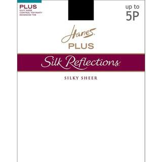 Silk Reflections Women's Sheer Control Top Enhanced Toe Pantyhose Little Color
