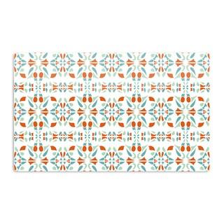 KESS InHouse Miranda Mol 'Italian Kitchen Orange Green' Artistic Aluminum Magnet
