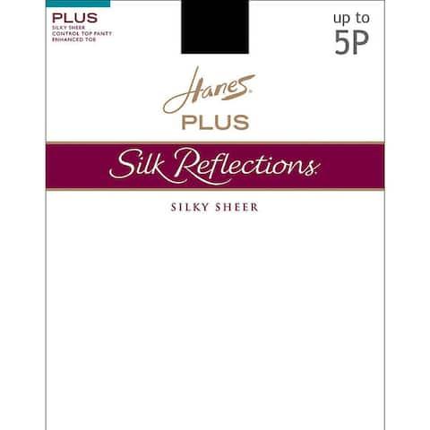 Silk Reflections Womens Sheer Control Top Enhanced Toe Pantyhose Pearl