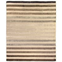 Exquisite Rugs Tube Brown Viscose Rug - 10' x 14'