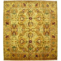 Exquisite Rugs European Polonaise Cream / Beige New Zealand Wool Rug (9' x 12') - 9' x 12'