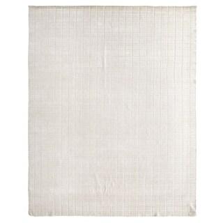 Exquisite Rugs Blocks White Viscose Rug (9' x 12')