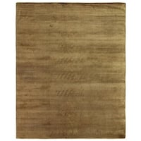 Exquisite Rugs Herringbone Khaki Viscose Rug - 9' x 12'