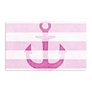 KESS InHouse Monika Strigel 'Stone Vintage Pink Anchor' Artistic Aluminum Magnet