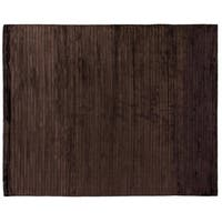 Exquisite Rugs High-low Chocolate Viscose Rug - 9' x 12'