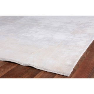 Exquisite Rugs Silky Touch White Viscose Rug (9' x 12')