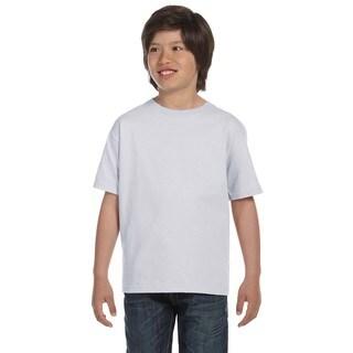 Hanes Boys' Comfortsoft Ash 5.2-ounce Cotton/Polyester Heavyweight T-shirt