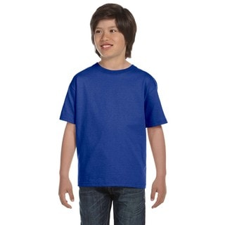 Hanes Boys' Comfortsoft Deep Royal 5.2-ounce Cotton/Polyester Heavyweight T-shirt