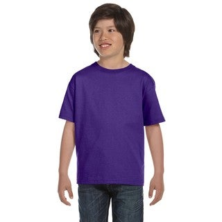 Boys' Youth Purple ComfortSoft Cotton 5.2-ounce Heavyweight T-shirt