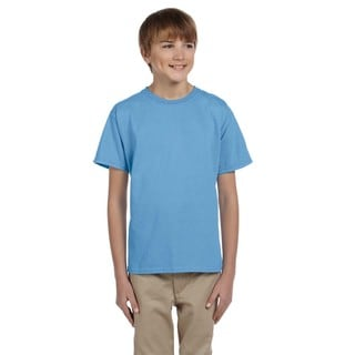 Gildan Boys' Ultra Carolina Blue Cotton/Polyester T-shirt