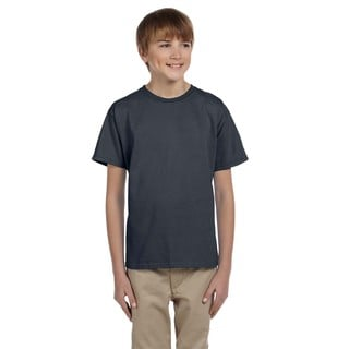 Gildan Boys' Ultra Charcoal Polyester and Cotton T-shirt