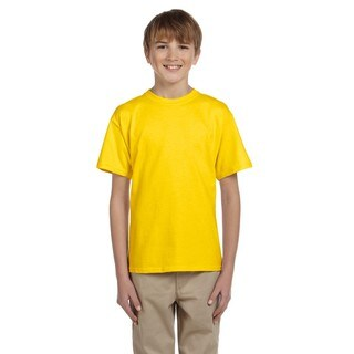 Gildan Boys' Ultra Daisy Yellow Cotton/Polyester T-shirt