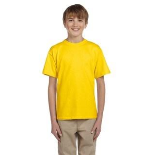 Gildan Boys' Ultra Daisy Yellow Cotton/Polyester T-shirt
