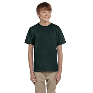 Gildan Boys' Ultra Forest-green Cotton/Polyester T-Shirt